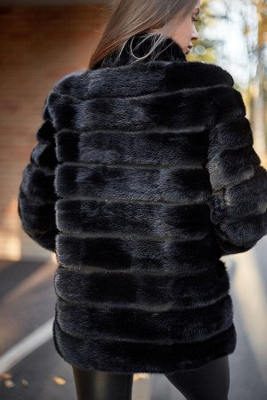 """Жакет из норки цвет """"black"""""""