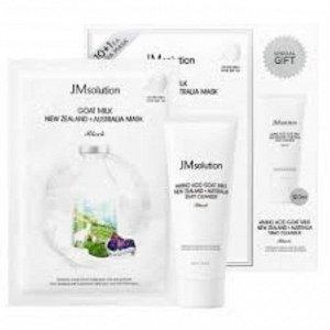JMsolution Goat milk New Zealand +Australia Mask Black Набор масок с австралийским козьим молоком и
