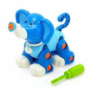 Конструктор отверточный «Слоненок», цвета МИКС