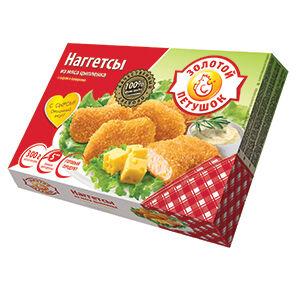 """Наггетсы из мяса цыпленка с сыром """"Золотой Петушок"""" 300 гр"""