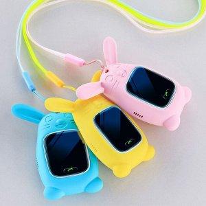 Силиконовый чехол кулон заяц для умных часов Smart Baby Watch Q60, Q80, Q90, GW100