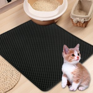 Коврик Коврики для кошачьего туалета надежны и практичны, а также очень удобны для вашего питомца. Они изготовлены из мягкого вспененного материала, не имеют запаха и не пропускают влагу. Подметайте р