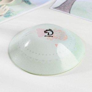 Набор детской посуды Доляна «Принцесса», 3 предмета: кружка 230 мл, тарелка 18 см, салатник 230 мл