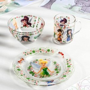Набор посуды детский Priority «Феи», 3 предмета