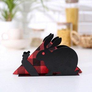 Салфетница «Зайка», 15?4?10,4 см см, цвет чёрный