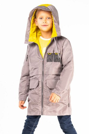 100036/1 (серый) Пальто-парка для мальчика