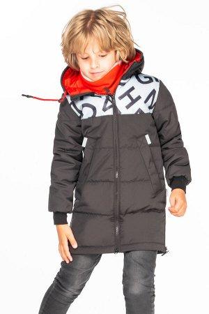 М 100016/1 (черный) Пальто для мальчика
