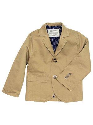 013061 Пиджак для мальчика бежевый