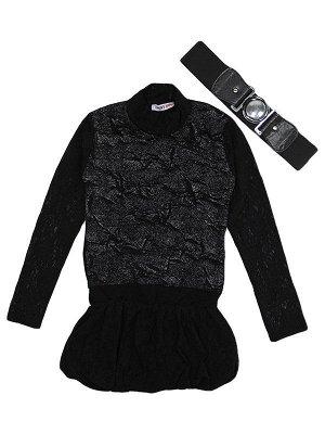 01130 Платье-туника с ремнем
