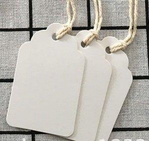 Шильдик Шильдик с веревочкой, размер 4,4*7 см, цена указана за 10 шт