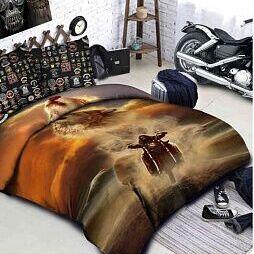 Постельные принадлежности по приятным ценам — Байкеры. КПБ, одеяла, покрывала, подушки — Постельное белье