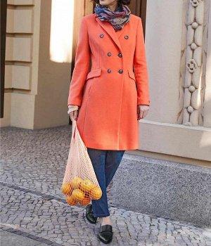 Пальто, оранжевое