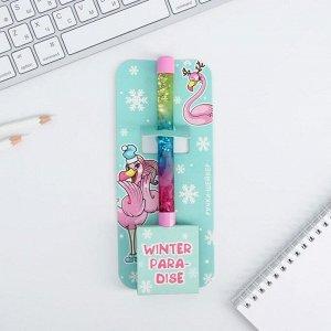 Ручка шейкер на открытке, Winter paradise