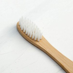 Зубная щётка для детей, бамбук «Улыбайся», 14 ? 2 ? 2 см