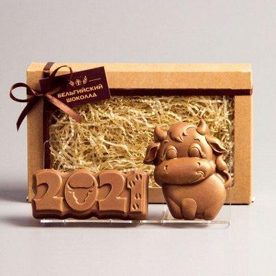 🍭Дарите вкусные подарки! Супер шоколад, чай! Акция на кофе! — Шоколадные фигурки бычка к Новому году! — Шоколад