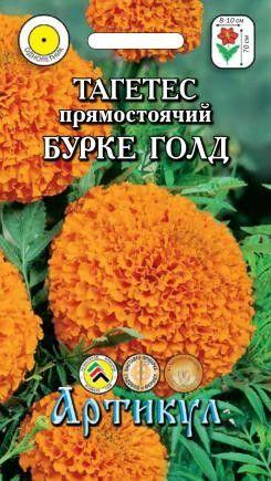 Цветы Бархатцы Бурке Голд ЦВ/П (АРТИКУЛ) прямостоячие 50-70см