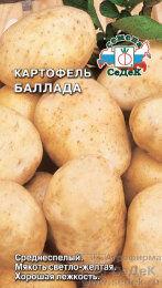 Картофель Баллада ЦВ/П (СЕДЕК) 0,02гр среднеспелый светло-желтый