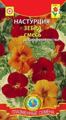 Цветы Настурция Зебра Смесь ЦВ/П (ПЛАЗМА) однолетнее до 2м
