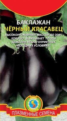 Баклажан Чёрный красавец ЦВ/П (ПЛАЗМА) 0,3гр среднеспелый