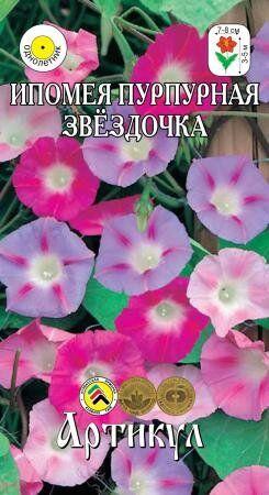Цветы Ипомея Пурпурная Звёздочка ЦВ/П (АРТИКУЛ) 1гр однолетнее до 5м