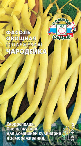 Фасоль Чародейка ЦВ/П (СЕДЕК) скороспелый спаржевый кустовой желтый