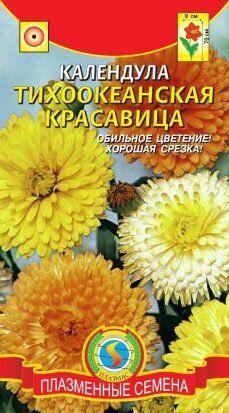 Цветы Календула Тихоокеанская красавица ЦВ/П (Плазма) смесь однолетнее 70см