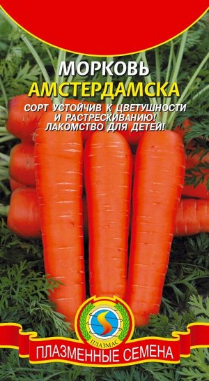 Морковь Амстердамска ЦВ/П (ПЛАЗМА) 2гр раннеспелый