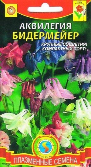 Цветы Аквилегия Бидермайер смесь ЦВ/П (ПЛАЗМА) многолетнее до 40см