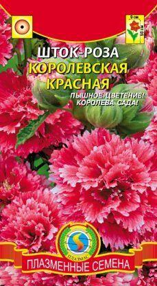 Цветы Шток-роза (Мальва) Королевская Красная ЦВ/П(ПЛАЗМА)