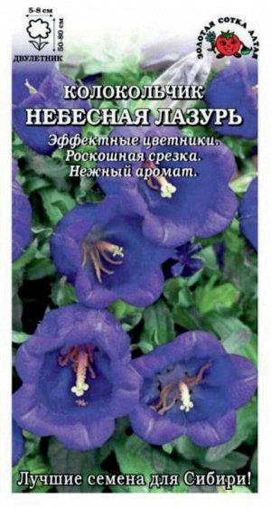 Цветы Колокольчик Небесная Лазурь ЦВ/П (Сотка) двулетнее 60-80см