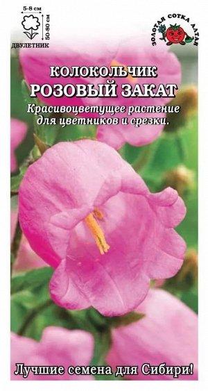 Цветы Колокольчик Розовый Закат ЦВ/П (Сотка) двулетнее 60-80см