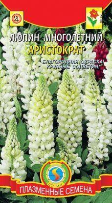 Цветы Люпин Аристократ ЦВ/П (ПЛАЗМА) белый многолетнее до 1,2м