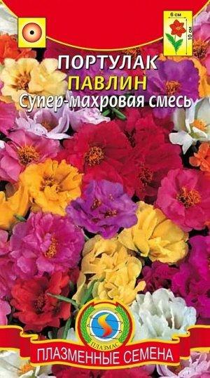 Цветы Портулак Павлин Супермахровая Смесь ЦВ/П (ПЛАЗМА)
