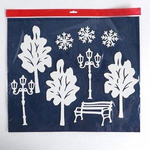 Набор декоративных наклеек «Новогодний городок»