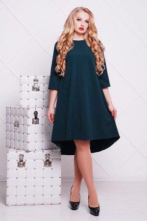 Платье Лагуна-Б д/р (изумрудный)