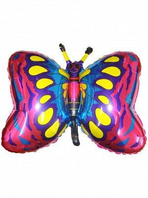"Фольга шар Бабочка фуксия 14""/35 см 1шт Испания"
