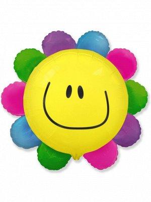 """Фольга шар Цветик многоцветик 14""""/35 см 1шт Испания"""