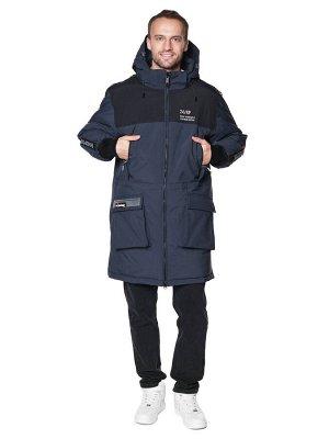 Пальто A-8901 Темно-синий
