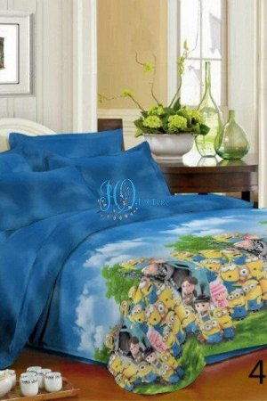 Коллекция постельного белья из полисатина 3D SMAIL-MISTERYA Веселый миньон