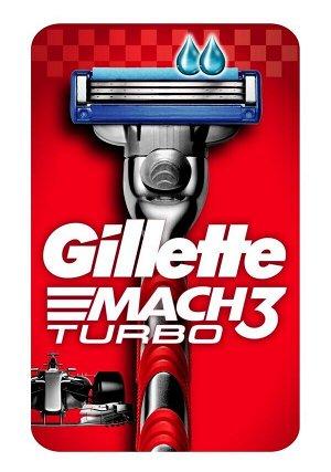 GILLETTE MACH3 Turbo Бритва с 2 сменными кассетами