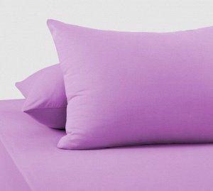 Комплект трикотажных наволочек на молнии Фиолетовый 70х70