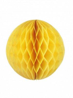Подвеска объемная бумажная Шар соты 25 см цвет желтый HS-26-16