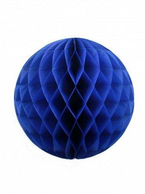 Подвеска объемная бумажная Шар соты 25 см цвет синий