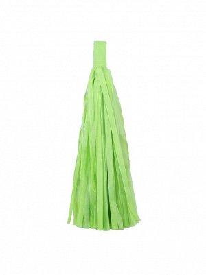 Помпон тассел бумага тишью салатовый