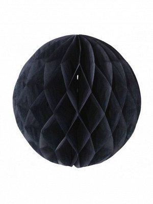 Подвеска объемная бумажная Шар соты 15см цвет черный