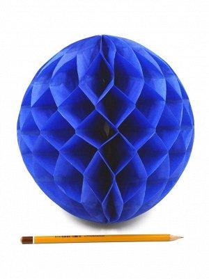 Подвеска объемная бумажная Шар соты 20 см цвет синий