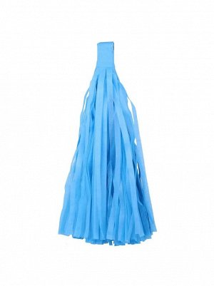 Помпон тассел бумага тишью голубой