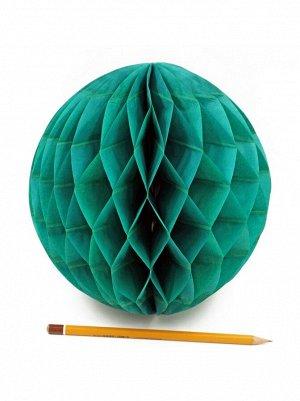 Подвеска объемная бумажная Шар соты 20 см цвет темно-зеленый