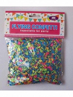 Конфетти 100 гр бумага цвет mix