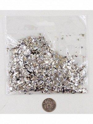 Конфетти Дробленые 13-15 гр цвет серебрянный Китай